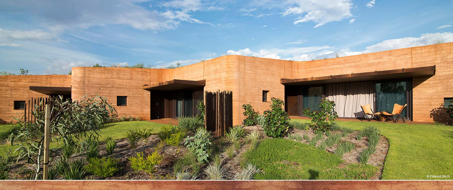 Western Australia's largest ever rammed earth wall